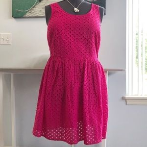 NWT fuchsia eyelet Old Navy dress